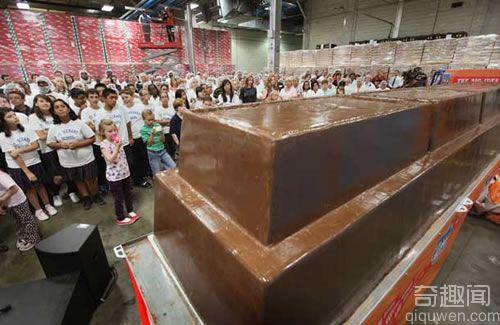 世界上最大的巧克力 打破了以前的吉尼斯世界纪录