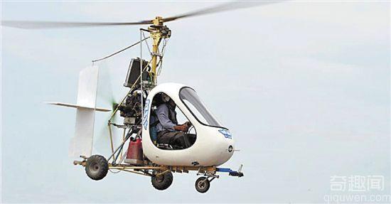 退休老人自制飞机 能高飞1000米