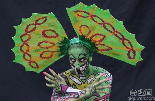 西班牙国际人体彩绘节 这造型亮瞎眼