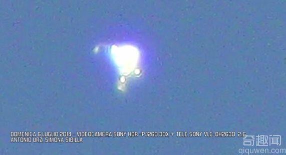 义大利米兰拍到神秘UFO金光闪闪如坠饰