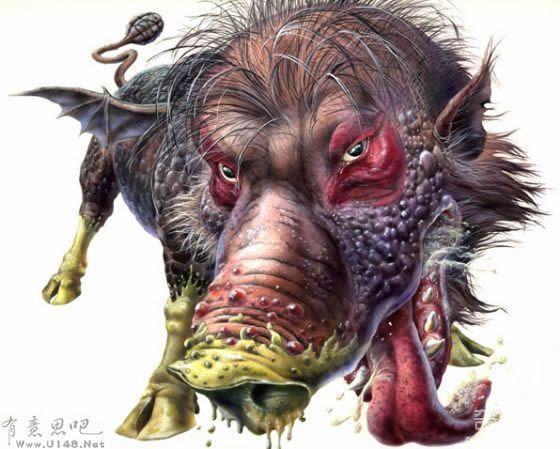 《山海经》异兽图片介绍 夔牛为其中之一