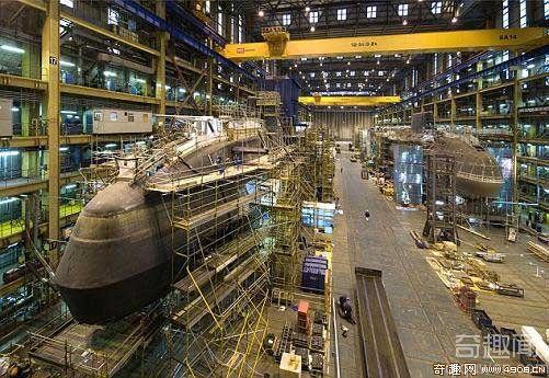 [图文]英国船厂建造该国最大潜艇内部照片曝光