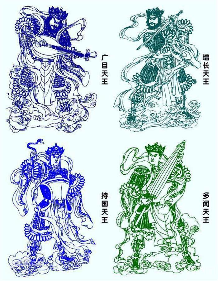 四大天王分别用什么法器 其法器分别有什么意义