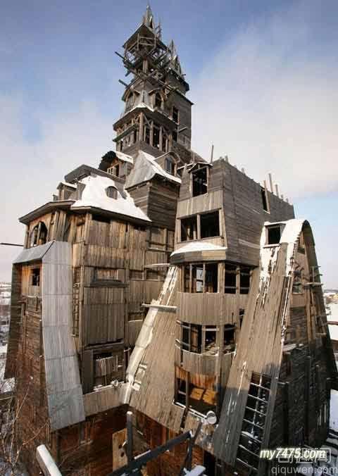 世界上最高的木楼一共13层 高144英尺 【组图】