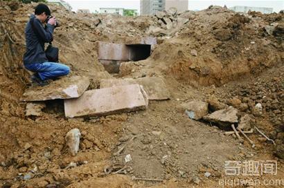 即墨挖出宋代古墓 多枚千年铜钱重见天日