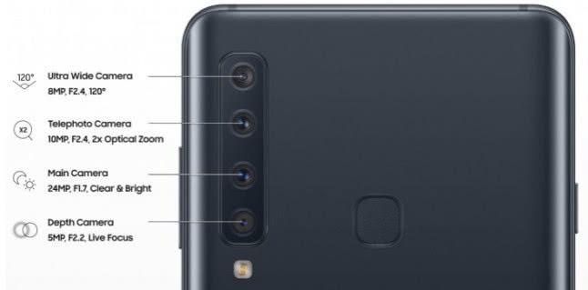 三星Galaxy A9s参数曝光:全球首款后置四摄手机