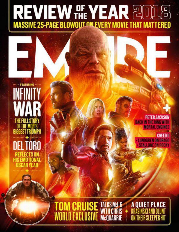 复联3成为2018最佳电影,灭霸的手上了杂志封面,他又打响指了
