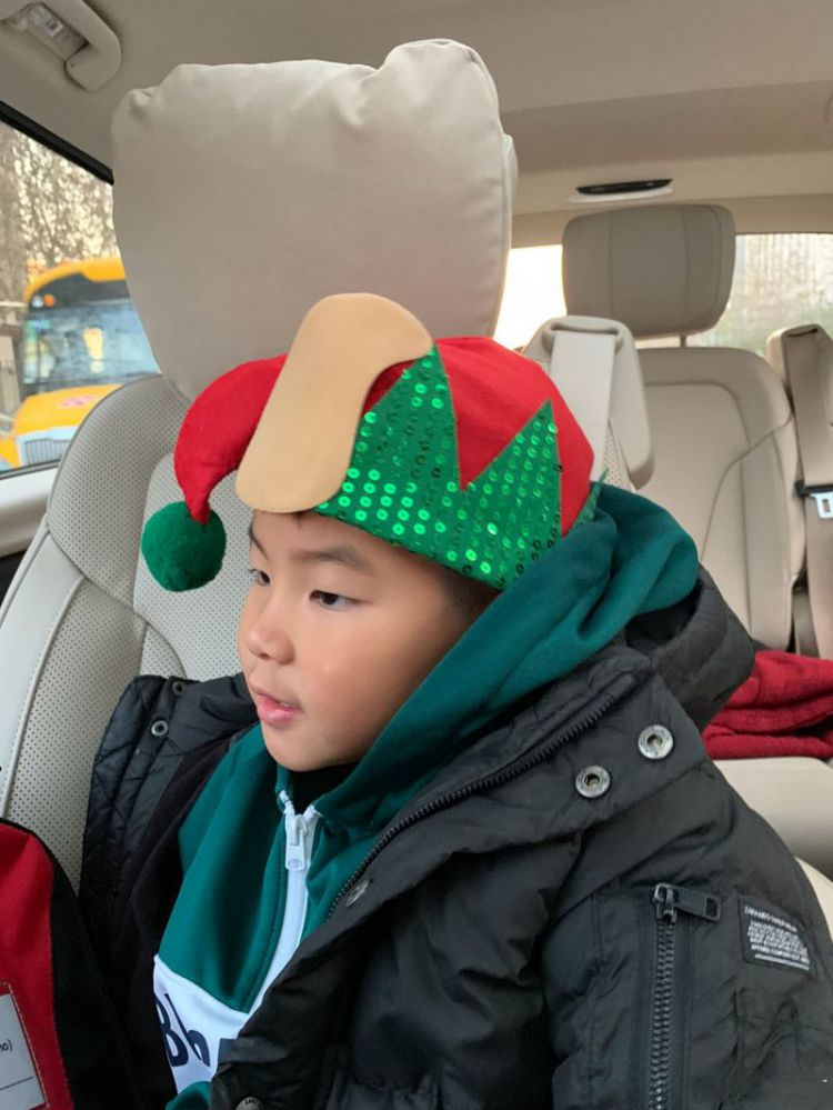 胡可晒鲫鱼兄弟戴圣诞帽画风大不同,网友:一个买家秀一个卖家秀