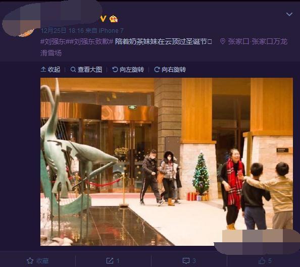 """重归于好?网曝刘强东章泽天""""风波""""后合体滑雪"""