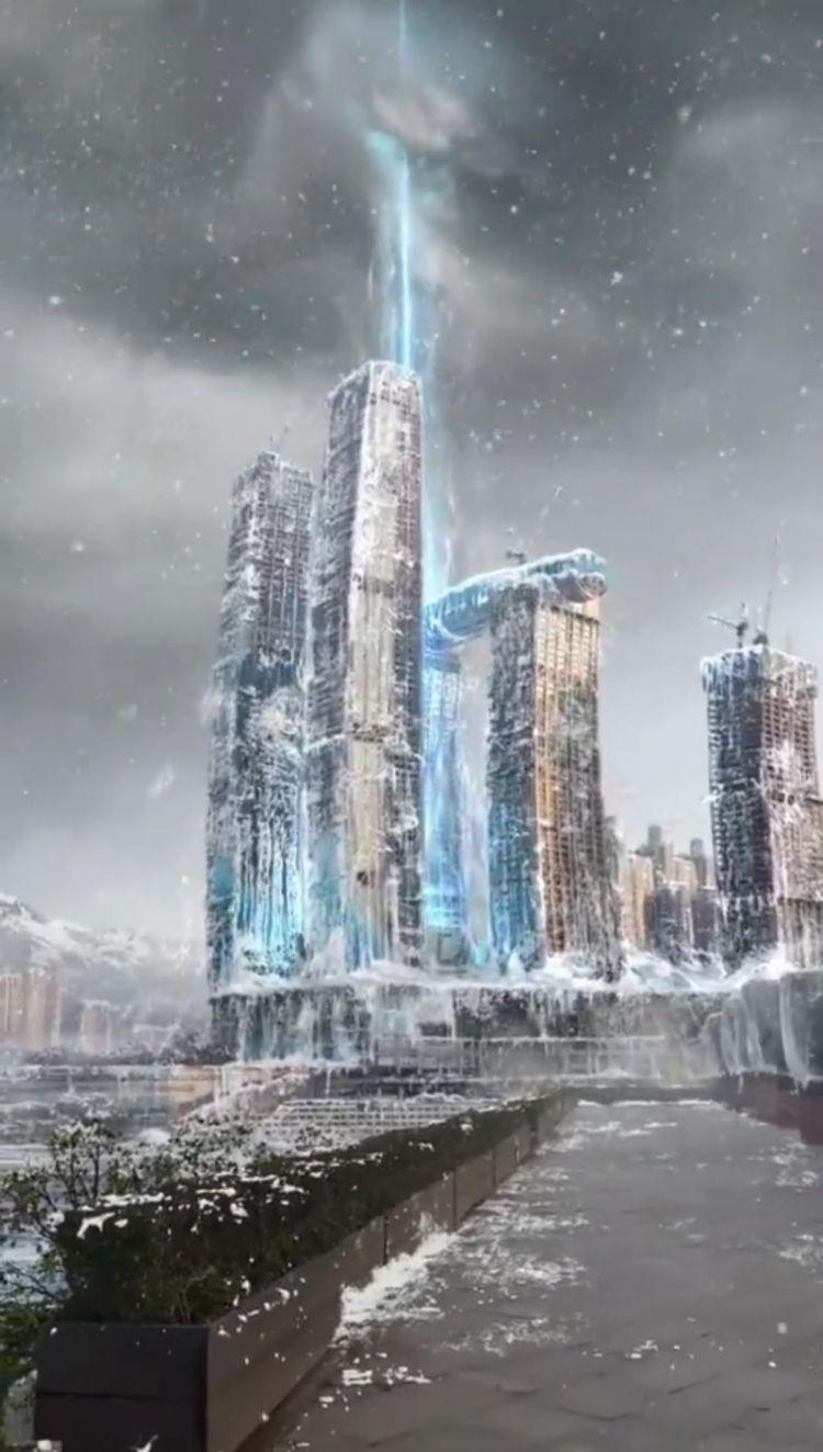 《流浪地球》票房破17亿,重庆一个广场被P成行星发动机