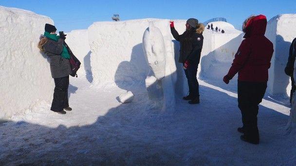 男子自掏28万打造全球最大雪地迷宫,打破吉尼斯世界纪录