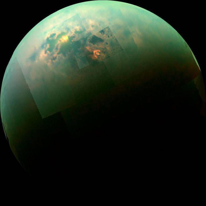 图片看宇宙;泰坦、土卫二及土卫十八罕见大图。