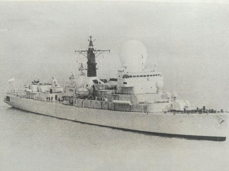 海军老照片1986年荷兰海军特混舰队访问东海舰队