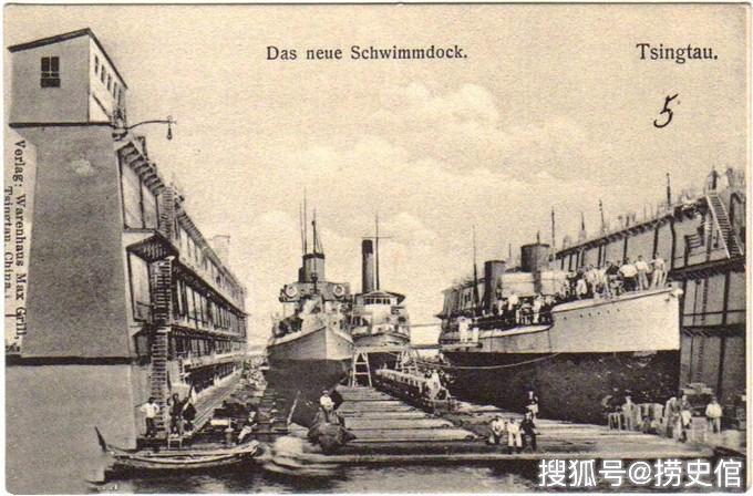 二十世纪初的青岛,耀武扬威的德军,此间正打俾斯麦之战