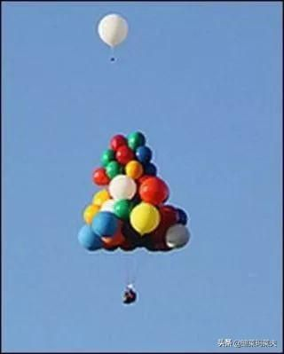 现实版飞屋环游记?老美把气球绑在办公椅上,飞过了英伦海峡...