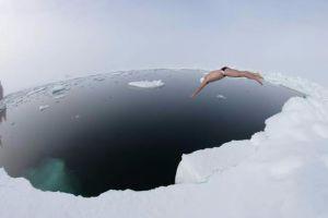 男子南极游泳破世界纪录 零下1.7℃海水中游20分钟
