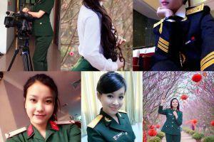 军中的红花 越南女兵都是萌妹子