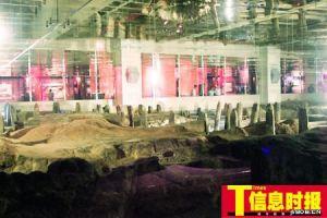 [图文]南越国千年水闸亮相广州光明广场负一楼
