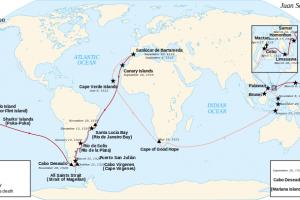 历史上的今天 麦哲伦环球航行结束
