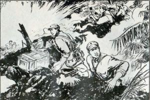 解放军2个班打败越军3个排,步兵和炮兵协同战斗歼敌50人