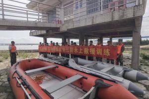 珠江街开展2021年下半年三防水上救援演练