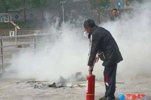 洞口县醪田镇中学开展消防安全演练活动